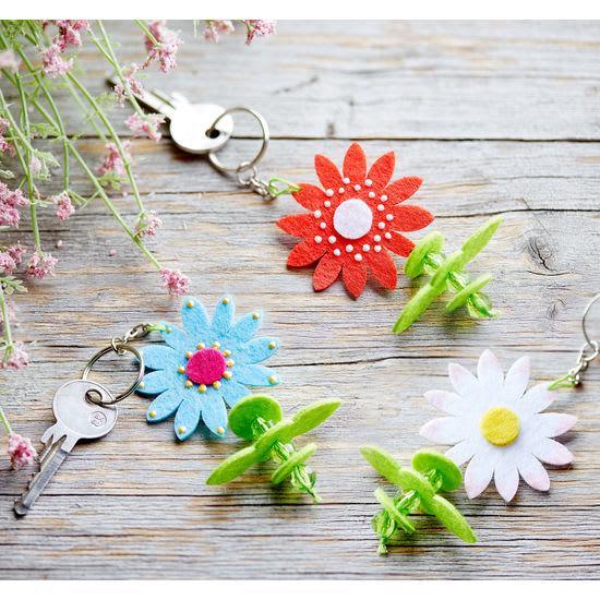 Sachenmacher Schlüsselanhänger Blumenzauber, Bastelset für 12 Stück