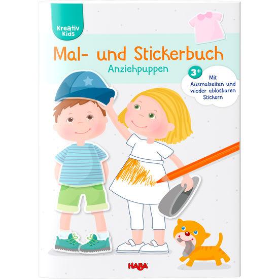 Kreativ Kids – Mal- und Stickerbuch Anziehpuppen HABA 305450