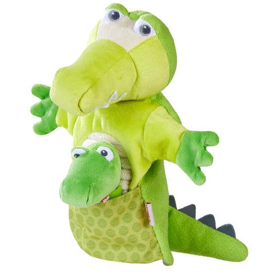 Handpuppe Krokodil mit Baby HABA 305754