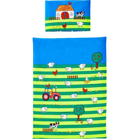 Baby Biber Bettwäsche Bauernhof JAKO-O, 100 x 135 cm