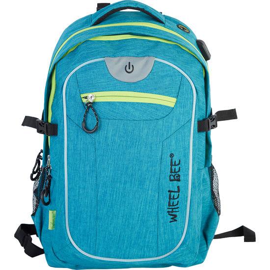 Wheel Bee<sup>®</sup> Schulrucksack mit integriertem LED Licht, 30 l