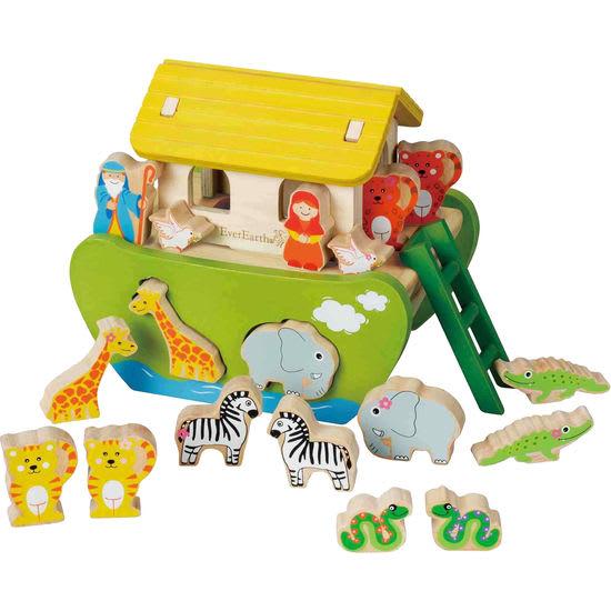 EverEarth® Kinder Sortier- und Steckspiel Arche Noah