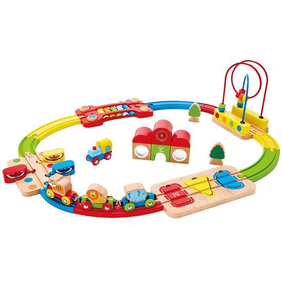 Hape E3826 Kinder Eisenbahnset Regenbogen-Puzzle