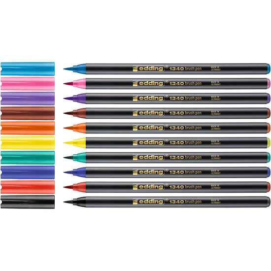 edding® 1340 brush Lettering Soft Colours, 10 Farben