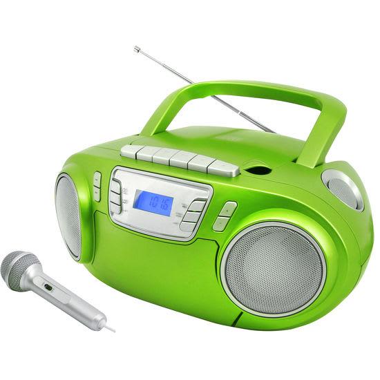 soundmaster® CD-Boombox mit Discolicht + Mikrofon SCD5800