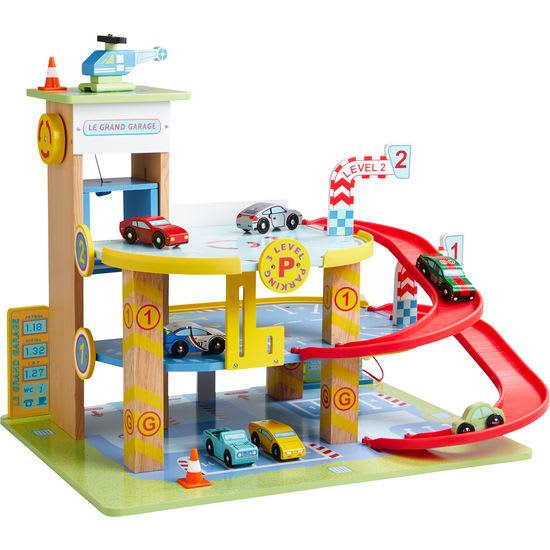 Spielzeug-Parkhaus aus Holz JAKO-O