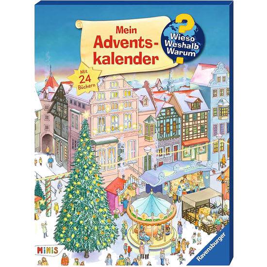 Ravensburger Kinder-Advendskalender Wieso? Weshalb? Warum?, mit 24 Büchlein