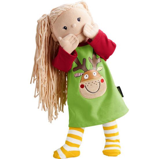 Krümel Puppen-Kleid Weihnachten JAKO-O, 43 cm