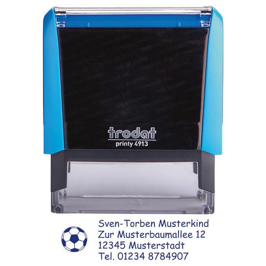trodat® printy 4913 Namensstempel Motiv Fußball