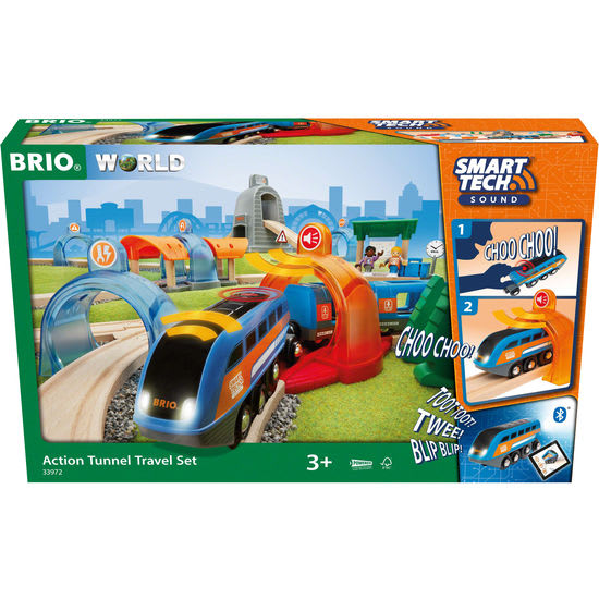BRIO Smart Tunnel Reisezug