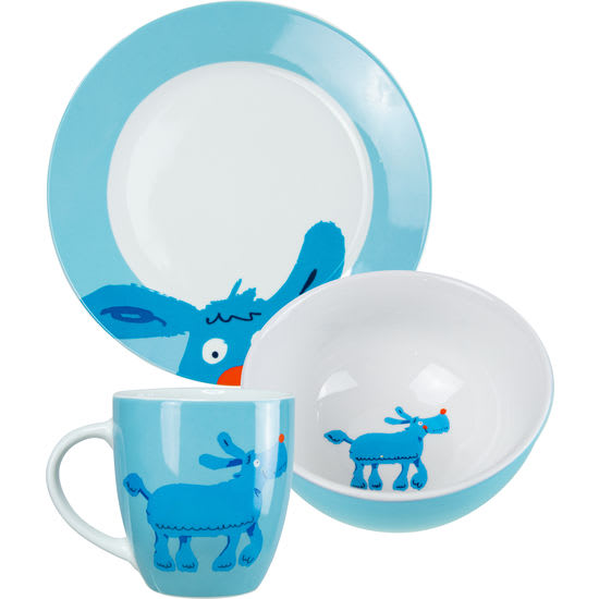 Kinder Geschirr-Set Tiere JAKO-O, 3-teilig