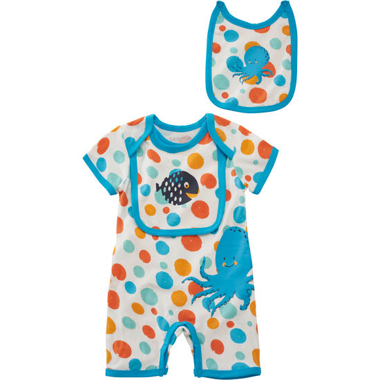 Baby Spieler mit Lätzchen Unterwasserwelt JAKO-O, 2 Sabbertücher