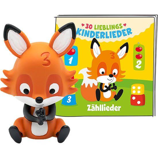 tonies® Hörfigur Fuchs - 30 Lieblings-Kinderlieder – Zähllieder