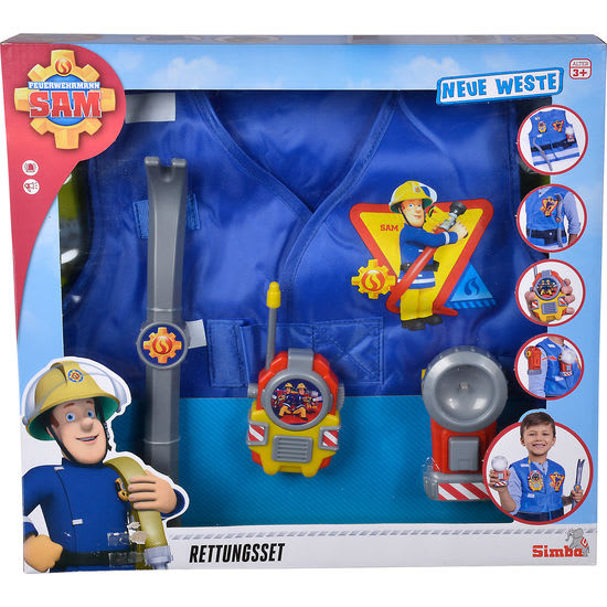 Simba Kinder-Kostüm Feuerwehrmann Sam Rettungsset