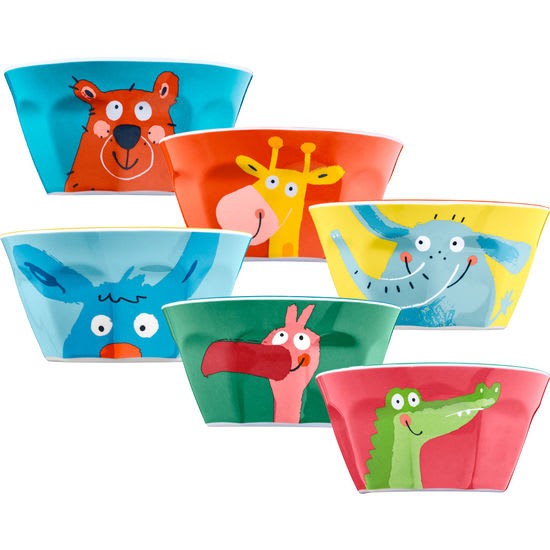 Kinder-Melaminschälchen-Set JAKO-O, 6-teilig