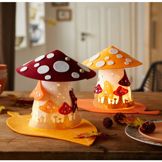 Sachenmacher Filzhäuschen Pilze, Bastelset für 2 Stück
