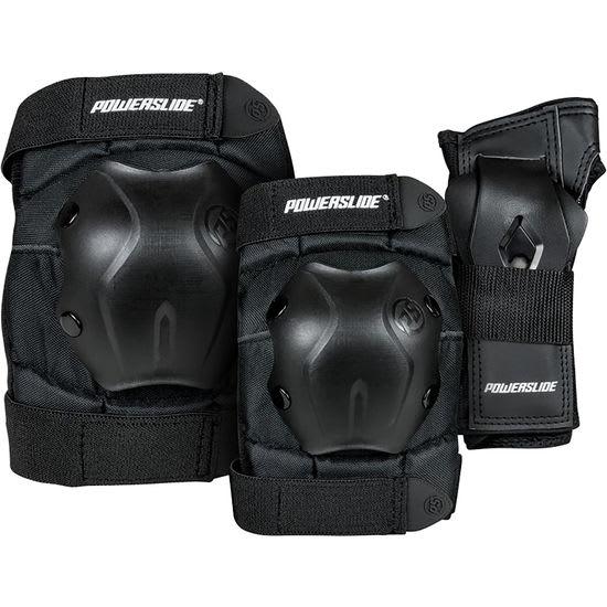 Powerslide® Kinder Protektoren-Set Standard schwarz, 6-teilig