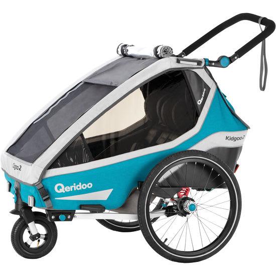 Qeridoo® Fahrradanhänger Kidgoo2, Modell 2020, petrol