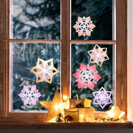 Sachenmacher Fenster-Knick-Sterne, Bastelset für 12 Stück