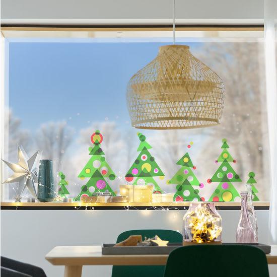 Sachenmacher Fensterbild Tannenbaum, Bastelset für 6 Stück