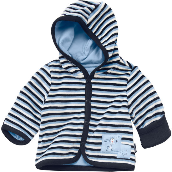 Baby Kapuzenjacke Nicki geringelt JAKO-O