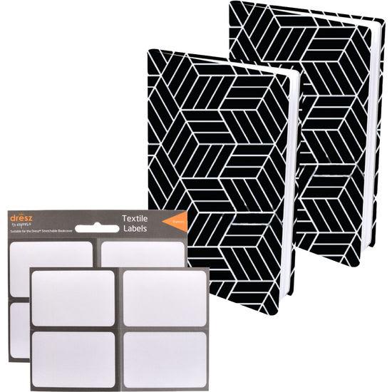 Dresz Flexible Buchumschläge Stretchable Book Cover, 2 Stück