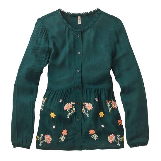 Bluse Blumen Mädchen FIT-Z