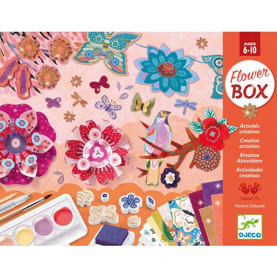 Djeco Flower Box, Bastelset für 6 verschiedene kreative Aktivitäten
