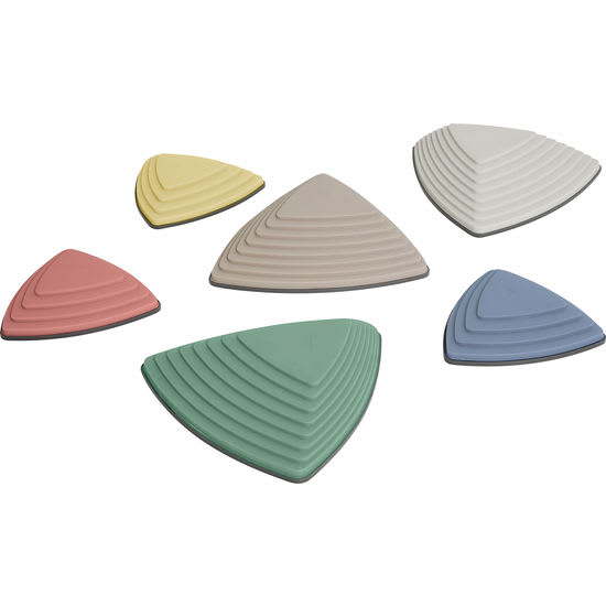 GONGE® Fluss-Steine, 6 Stück