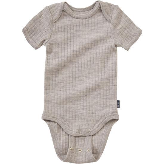 Baby Halbarmbody Wolle Seide JAKO-O Mitwachs-Body