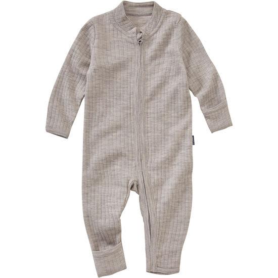 Baby Schlafoverall Wolle Seide JAKO-O, mit Klappbündchen