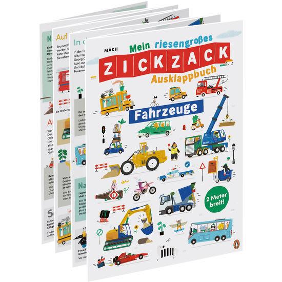 Sachbilderbuch Mein riesengroßes ZICKZACK Ausklappbuch – Fahrzeuge