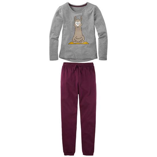 Mädchen Schlafanzug Lama FIT-Z