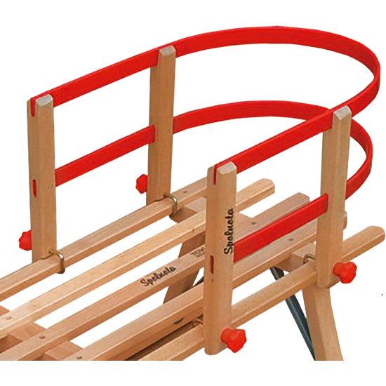 Kinder Rückenlehne für Holzschlitten