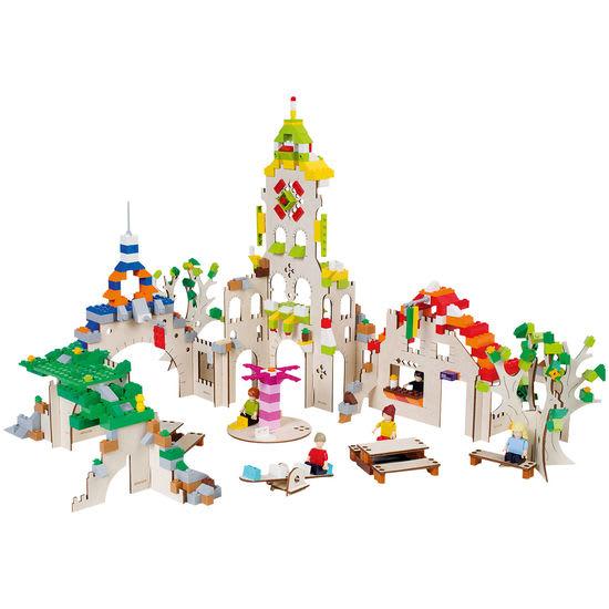 Stadt Holz-Bausatz, Gerüst für Bausteine
