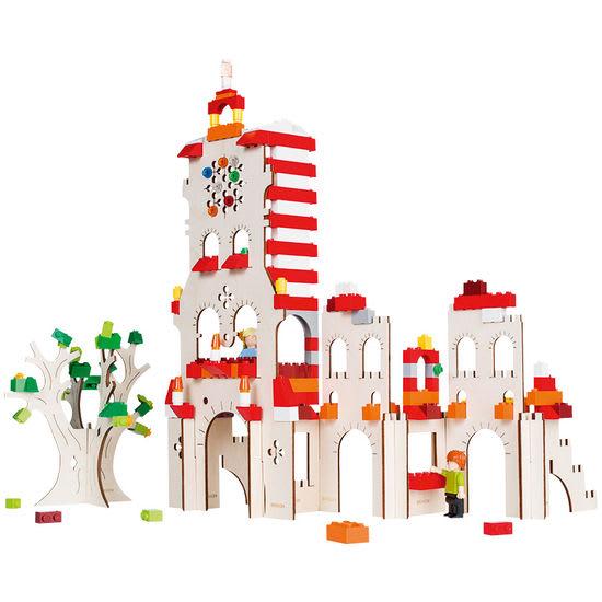 Turm Holz-Bausatz, Gerüst für Bausteine