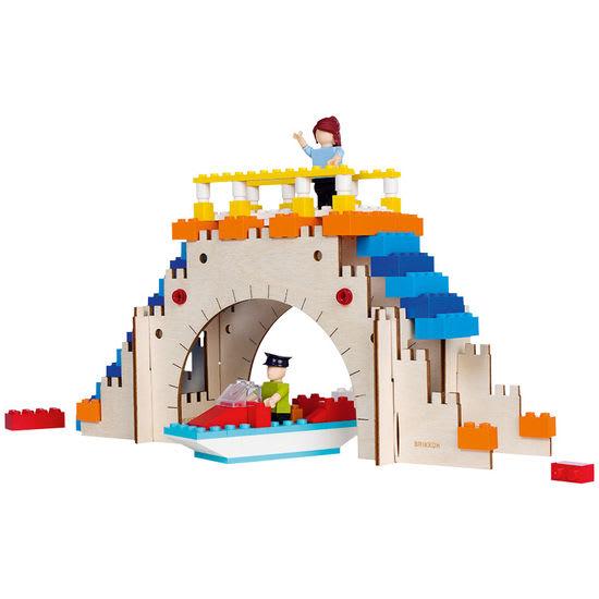 Brücke Holz-Bausatz, Gerüst für Bausteine