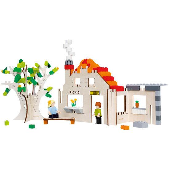 Haus Holz-Bausatz, Gerüst für Bausteine